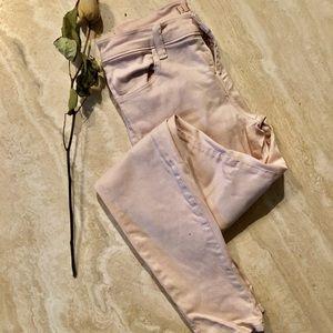 J BRAND baby pink super skinny jeans